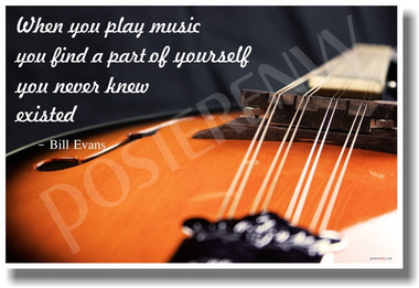 PosterEnvy - When You Play Music - Mandolin 2 - NEW Music Poster