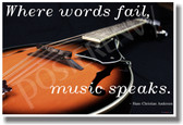 Where Words Fail Music - Mandolin - NEW Music Poster