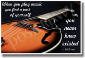 When You Play Music - Mandolin - NEW Music Poster