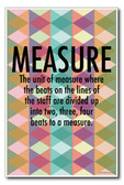 Measure - NEW Music Poster
