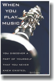 When You Play Music You Discover a Part of Yourself That You Never Knew Existed - Bill Evans - Clarinet