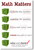 Math Matters - CUBES - helps students solve mathematics problems - PosterEnvy Poster
