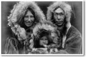 Eskimo Family Portrait - Alaska 1929 - NEW Vintage Photograph Poster