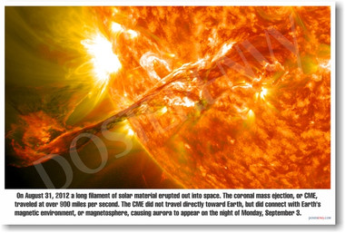 The Sun's Coronal Mass Ejection - Solar Flare - Classroom Science PosterEnvy Poster