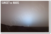 Sunset on Mars - NEW Science Poster