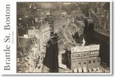Brattle St Boston circa 1920 - NEW Vintage Photograph Poster