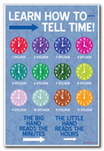 Learn How To Tell Time - NEW Classroom Science Poster