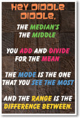 Hey Diddle Diddle - NEW Algebra Mathematics Educational Classroom POSTER