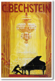 Advertisement Poster for German Piano Manufacturer C Bechstein - 1920