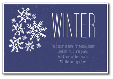 Winter Holiday Classroom PosterEnvy Poster