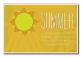 Summer Seasonal Classroom PosterEnvy Poster