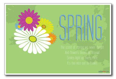 Flowers - Spring seasonal classroom PosterEnvy poster
