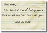 Move on Math! - NEW Humorous Mathematics Educational Classroom POSTER