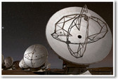 Satellite Dishes at Night - NEW Science Poster