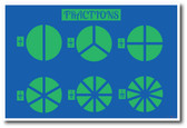 Fractions - Division Math Classroom Poster