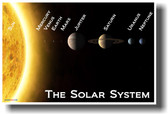 The Solar System - Classroom Science Astronomy Poster
