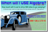 When Will I Use Algebra In Real Life? Classroom Math Poster
