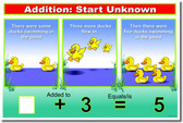 Addition: START Unknown - Classroom Math Poster