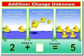 Addition: CHANGE Unknown - Classroom Math Poster