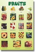 Fruits - Classroom Educational - Healthy Food Poster