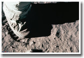 Apollo Astronaut Walking on the Moon