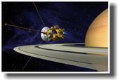 Cassini-Huygens Satellite Orbiting Saturn - Space Exploration NASA PosterEnvy Poster (ms006)