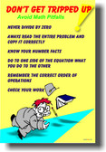 Don't Get Tripped Up - Avoid Math Pitfalls - Classroom PosterEnvy Poster (ms001)