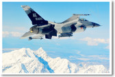 F-16 Fighting Falcon - NEW Military Poster