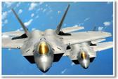 Pair of F-22 Airforce Raptors