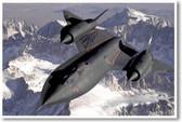 SR-71 Blackbird Spy Plane - Aviation Military Poster (mi039)