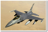 F-16 Falcon Tactical Fighter Poster