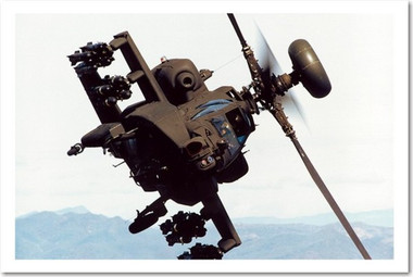 PosterEnvy - Apache AH-64 D Longbow Army Attack Helicopter Poster