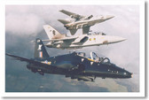 Three Military Jet Fighters