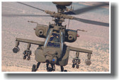 Apache Army Helicopter - Head-On
