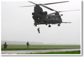 MH47 Chinook Helicopter Drop Off - NEW Military US Air Force Army Navy POSTER