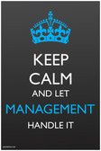 Keep Calm and Let Management Handle It - NEW Humor Poster