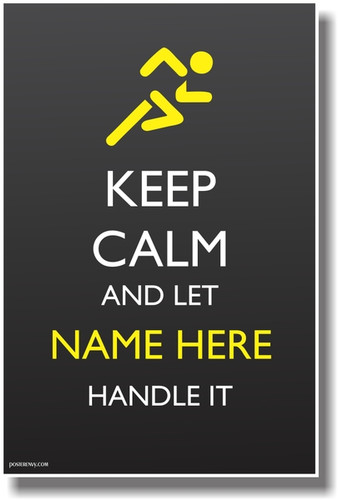 Custom Keep Calm Poster - Runner Athlete