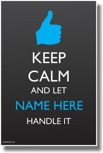 PosterEnvy - Keep Calm Thumbs Up Positive Poster