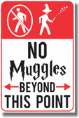 No Muggles Beyond This Point - Magic Harry Potter Funny Humor PosterEnvy Poster