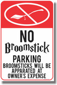 PosterEnvy - No Broomstick Parking - NEW Magic Humor Poster