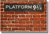 Hogwarts Express Platform 9-3/4 - NEW JK Rowling's Harry Potter Magic Wizard Humor Poster