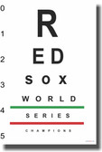 Red Sox Eye Chart 2 - NEW Humor Poster