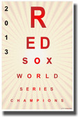 Red Sox Eye Chart - NEW Humor Poster