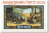 Ben Hur Theater - NEW Vintage WW2 Reprint Poster