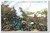 Battle of Franklin Tennessee - November 30 1864 - NEW Vintage WW2 Reprint Poster