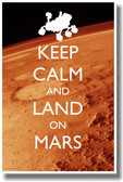 Keep Calm and Land On Mars