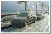 Cars Coated in Ice