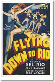 Flying Down To Rio - NEW Vintage Reprint Poster