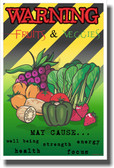 Fruits and Veggies - NEW Health Poster
