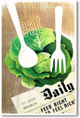 Eat Green Daily - NEW Health Poster